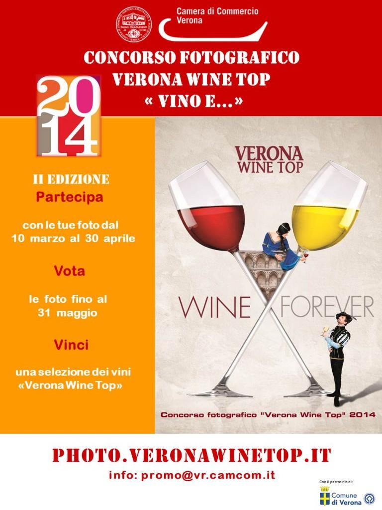 locandina Concorso Fotografico Verona Wine Top 2014