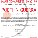 Poeti in guerra, Rovigo 26 aprile 2016