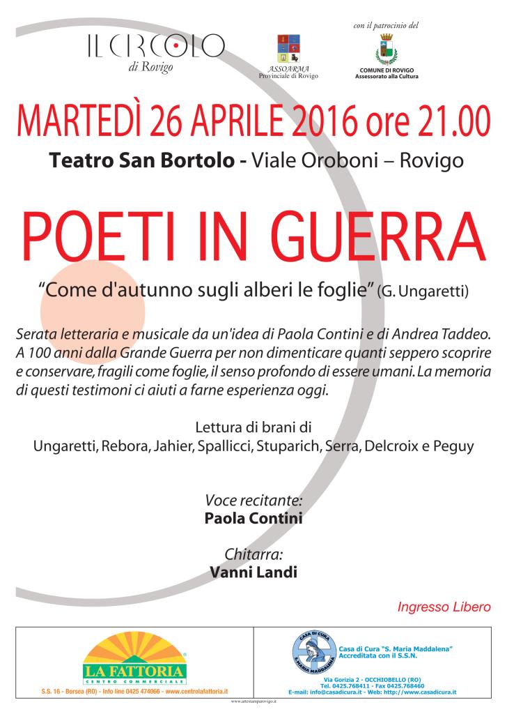 poeti in guerra 2016