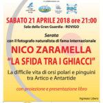 Serata Natura con Nico Zaramella a Rovigo 21/4/18